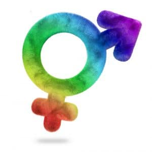 feminine and masculine symbols connected with each other, Balancing masculine and feminine energy leads to more harmonious life