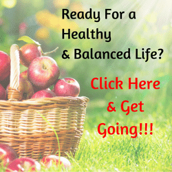 basket with red apples in it, letting asking people if they are ready for a healthy and balanced life, offering tips for a healthy and balanced life