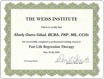 Past Life Regression Therapy Certification by Dr Brian Weiss, The Weiss Institute, Shirly Gilad, founder of Integrative Hypnotherapy Boca Raton