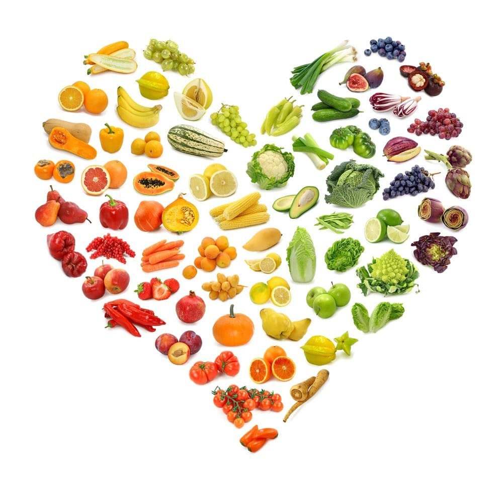 a heart formed by fruit and veggie shaped symbols, Steps to Take During the Coronavirus Pandemic