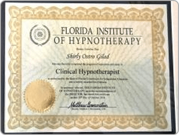 Clinical Hypnotherapist Certification. Shirly Gilad founder Integrative Hypnotherapy