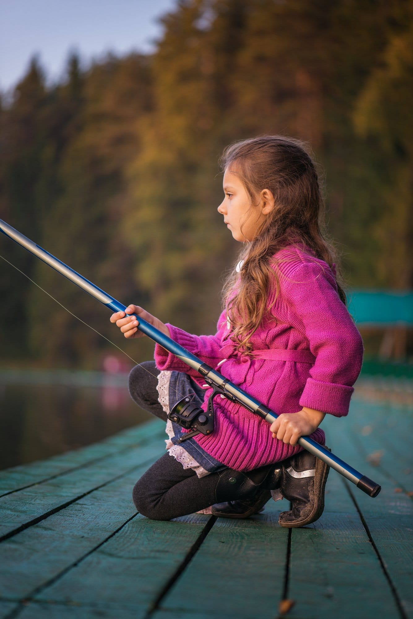 little girl is fishing on a lake, Hypnosis Tools for every day success