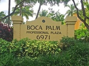 Integrative Hypnotherapy Boca Raton office sign Boca Palm Professional Plaza 6971