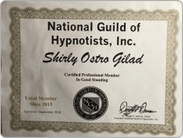 member of the National Guild of Hypnotists, Shirly Gilad, founder of Integrative Hypnotherapy Boca Raton