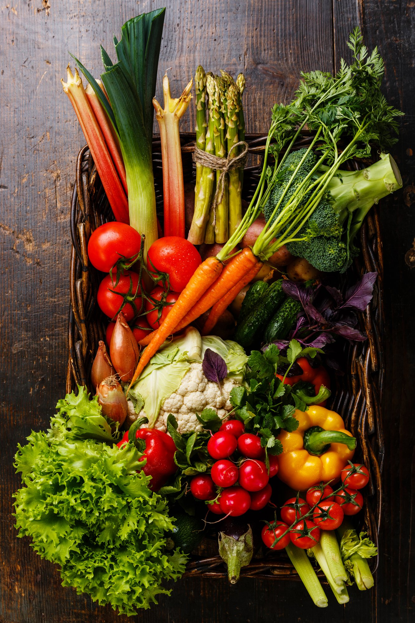 a basket with colorful veggies, how to boost your immune system