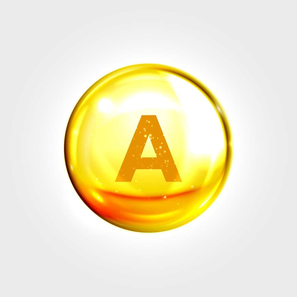drawing with letter A in it symbolizing vitamin A